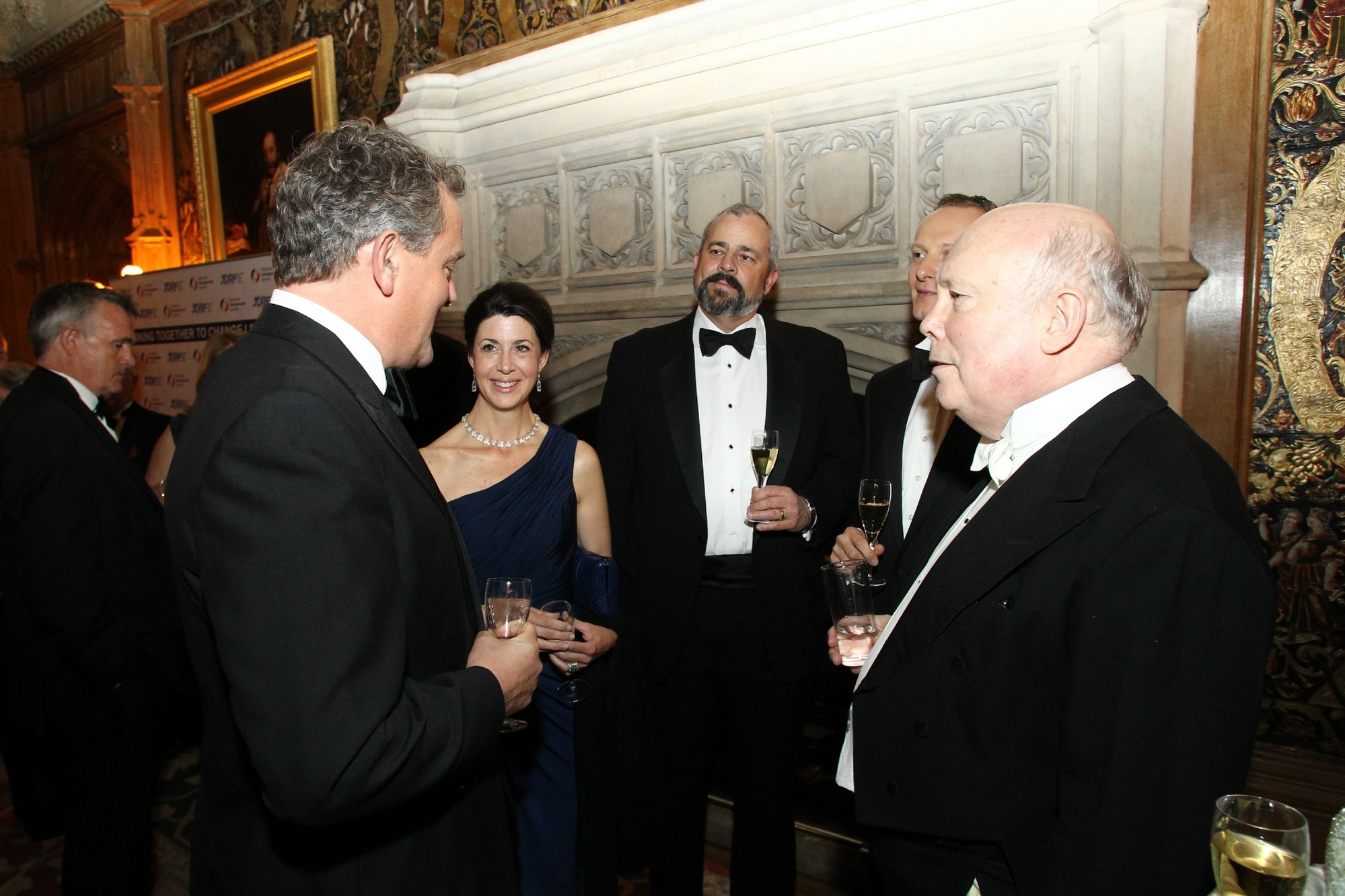 Highclere Castle (Downton Abbey): Julian Fellowes, Hugh Bonneville (Lord Grantham) with Morpho Founder Neil Anthony Richmond