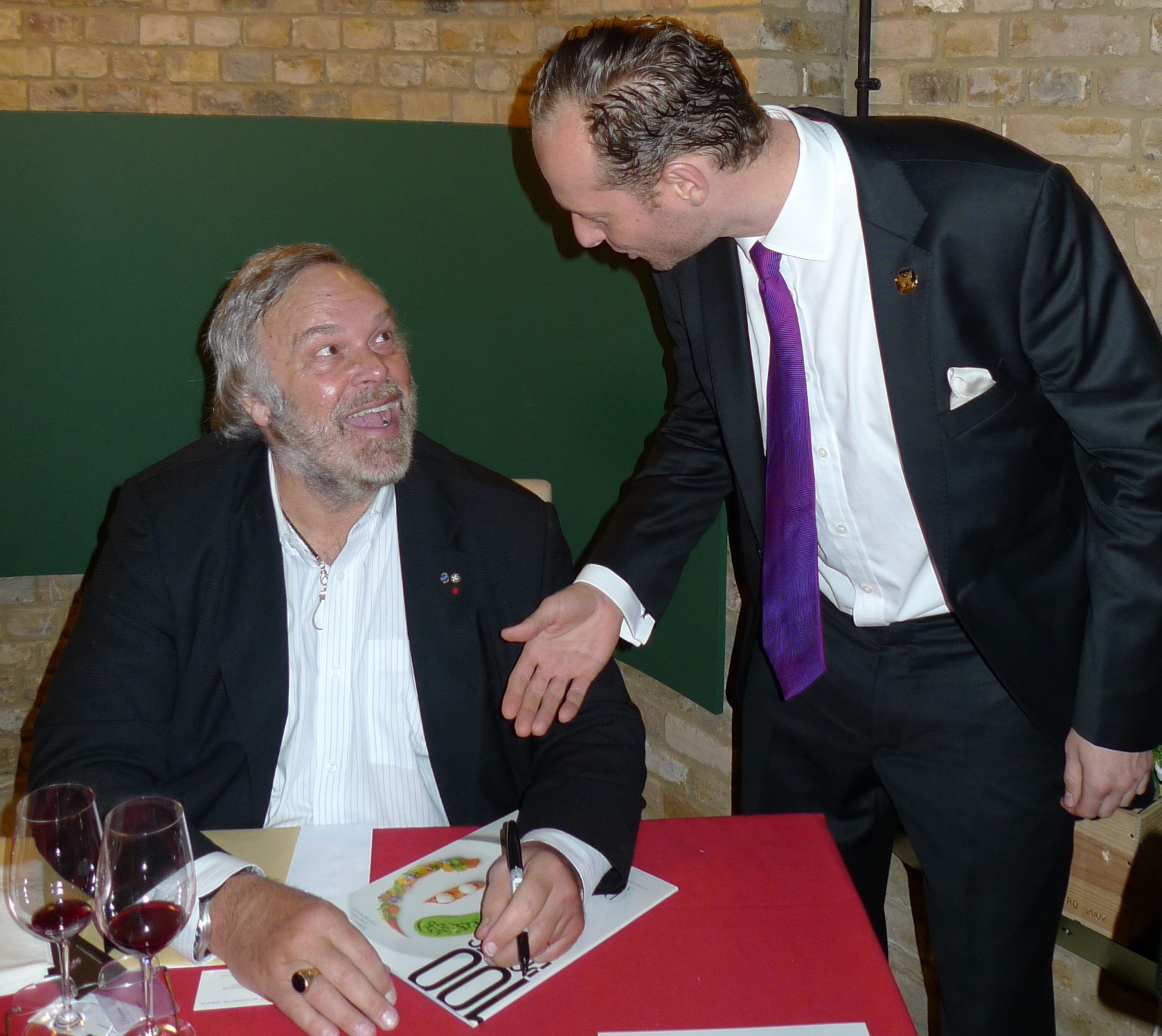 Robert Parker and Morpho Founder Neil Richmond at Hedonism in Mayfair